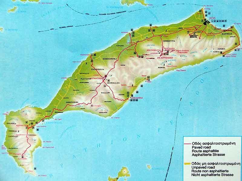 Cartina di kos spiagge my blog updated altavistaventures Image collections